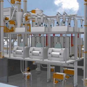 Мукомольная система 3250 (производительностью 90-100 тонн/сутки)